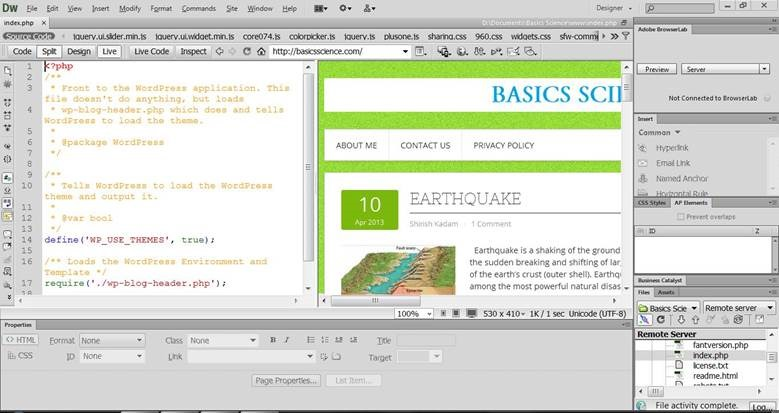How to add your WordPress website to Dreamweaver CS6? – SHIRISH KADAM