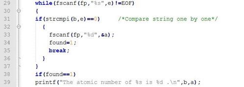 elements atomic number periodic table c program